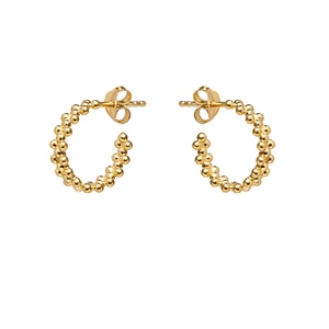 NU & MII Gold Amelia Hoop Earrings