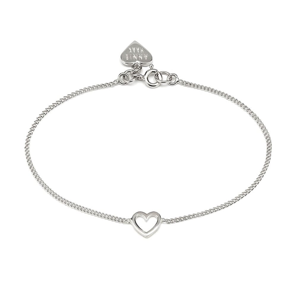 chain hover open above heart bracelet to silver zoom over in haak annie the image