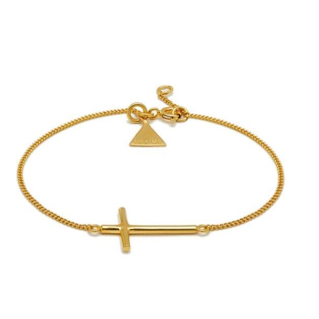 NU & MII Cross Gold Bracelet
