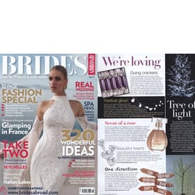 Brides Magazine December - Feature Page 1