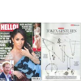 HELLO! Magazine November - Infinity forever bracelet