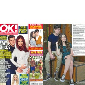 Ok Magazine 24th October - XFactor's Emily Middlemas Feature Page 1