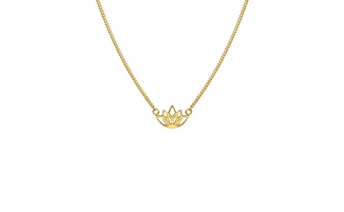 Lotus Flower Gold Necklace