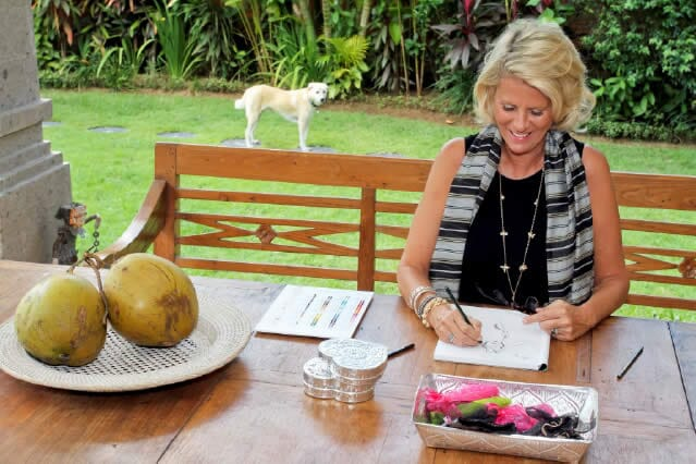 Annie Haak in Bali designing new Silver Jewellery