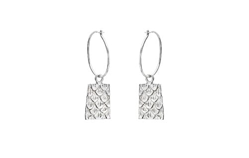 Bella Silver Hoop Earrings