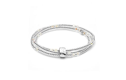 Blissful Swarovski Silver Looped Bracelet