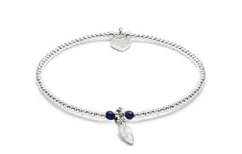 Bulu Silver Charm Bracelet - Lapis Lazuli