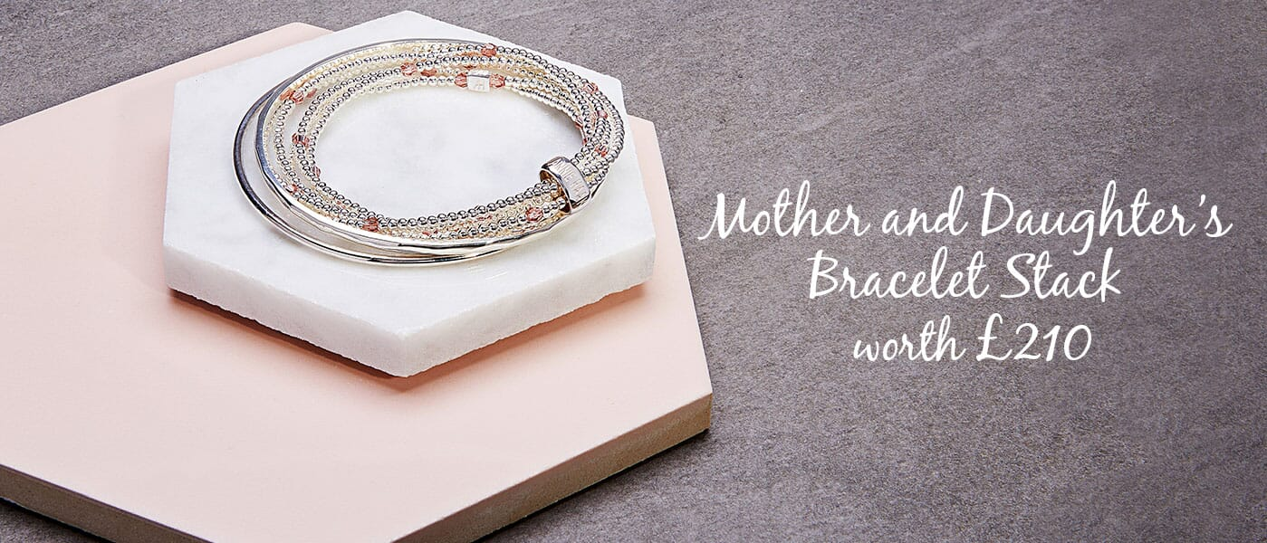 Mother and Daughters Bracelet Stack