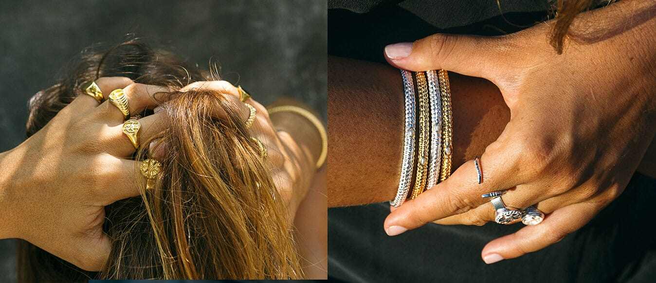 NU&MII Stay Wild Collection Bangles and Rings