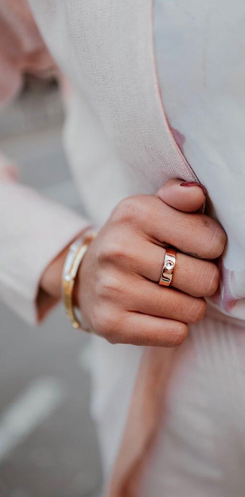 Samara Swarovski Rose Gold Ring - Clear Crystal