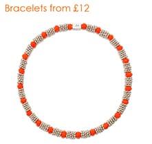 Rona orange silver bracelet