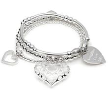 santi hearts silver charm bracelets