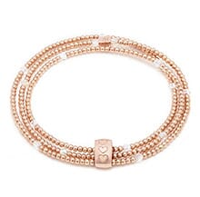 BLISSFUL SWAROVSKI CRYSTAL ROSE GOLD LOOPED BRACELET