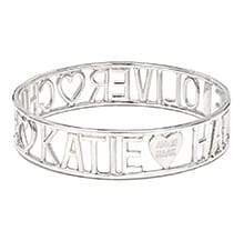 BESPOKE LOVE IS ALL AROUND SILVER BANGLE