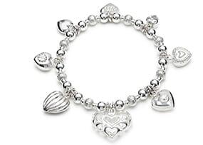 Heaps of Hearts Silver Bracelet