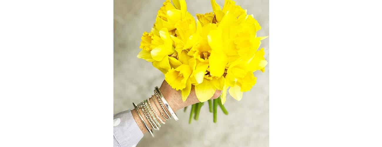 Swarovski Sparkle Silver Bracelet Easter Green- Daffodils