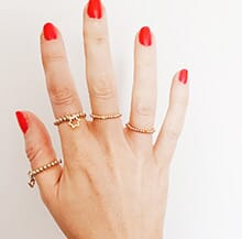 MINI CHARM RINGS GOLD