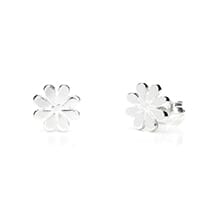 Daisy Flower Silver Stud Earrings