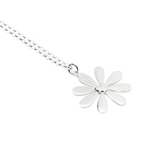Gili Heart flower Silver Necklace