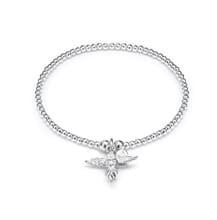 My Guardian Angel Santeenie Silver Charm Bracelet
