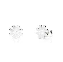 DAISY FLOWER SILVER STUD EARRINGS