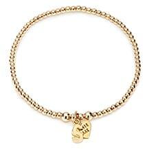 SANTEENIE GOLD CHARM BRACELET - INITIAL