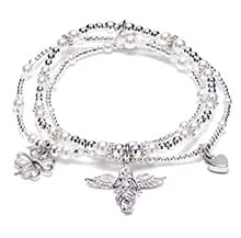 Ceremony Trio Silver Charm Bracelet