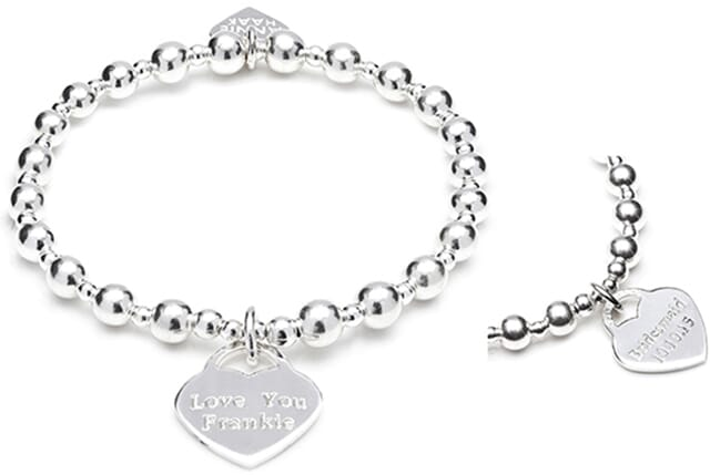 Orchid Personalised Charm Bracelet