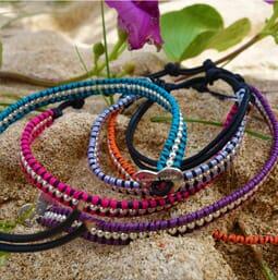Wanti Wanti Silver Wrap Friendship Bracelet