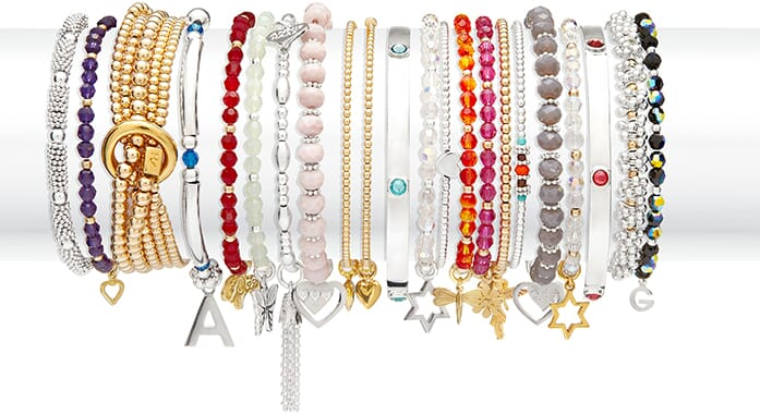 Bliss Collection silver bracelets