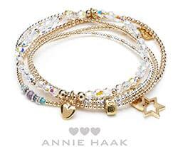 Rigal gold charm bracelet stack