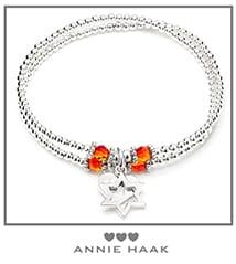 Sari silver charm bracelet