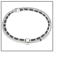Serasi dua silver bracelet hematite