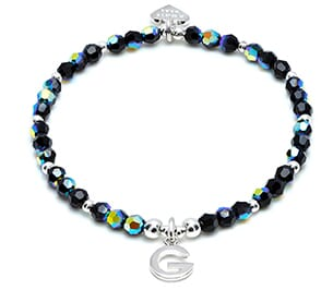 Whole lot of sparkle silver charm bracelet