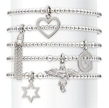 ANNA BELLA SILVER CHARM BRACELET WITH CHOICE OF CHARM
