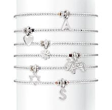 PICCOLO SILVER CHARM BRACELET WITH CHOICE OF CHARM AND COLOUR