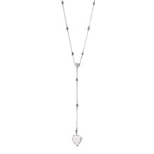 SAMARA SWAROVSKI ROSARY SILVER NECKLACE - BLACK DIAMOND