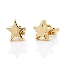 TINY BOXED STAR GOLD EARRINGS