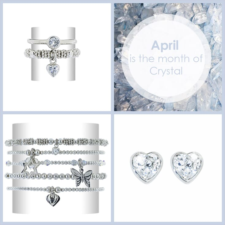 Month of April silver jewellery