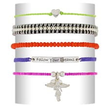 Nicely Neon Friendship Bracelet Stack