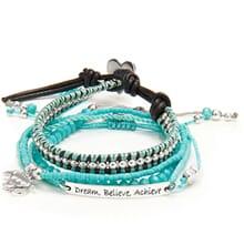 Tranquil Turquoise Friendship Bracelet Stack